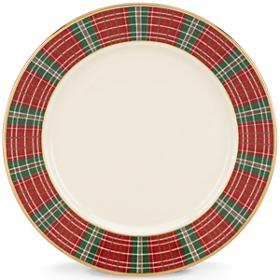 Lenox  Winter Greetings Plaid Bread Plate $27.20