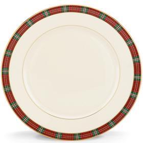 Lenox  Winter Greetings Plaid Dinner Plate $57.60