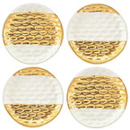 Michael Wainwright   Truro Gold Canape Plates Set of 4 $100.00
