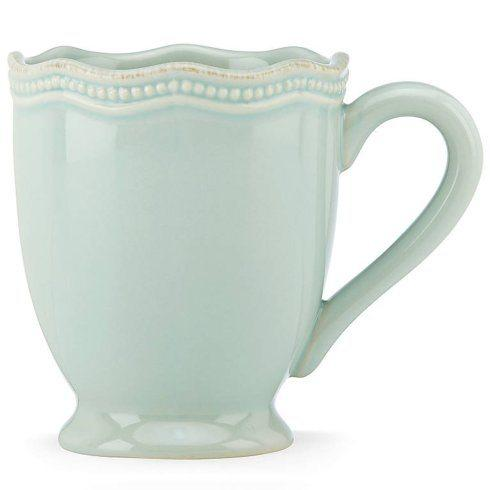 Lenox  French Perle Bead Ice Blue Mug $18.40