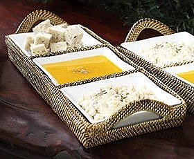 Calaisio   Rectangle Tray with 3 Dividers $165.00