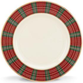 Lenox  Winter Greetings Plaid Salad Plate $40.00