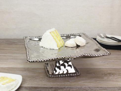 Pampa Bay   Verona Porcelain Square Cake Stand $75.00