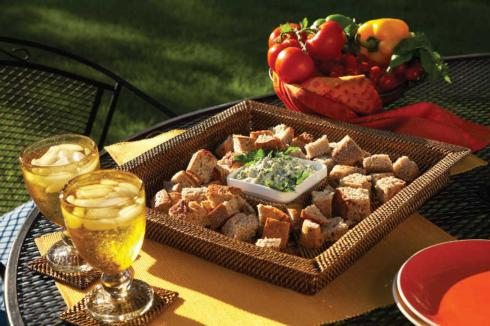 $76.00 Square Chip & Dip Tray with Glass Dish