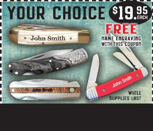 $19.95 Your Choice Pocket Knife
