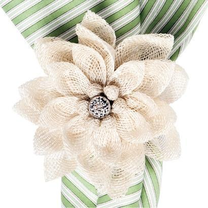 $15.00 Dahlia Natural Napkin Ring
