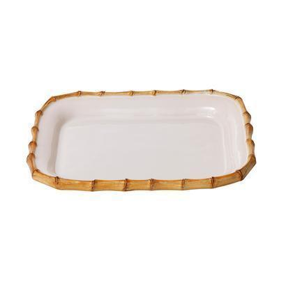 "Juliska  Classic Bamboo Natural 12"" Rectangular Platter $85.00"