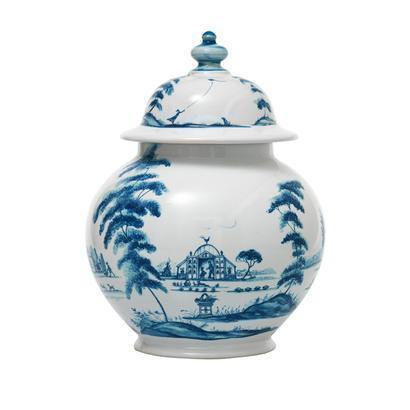 "$250.00 10"" Lidded Ginger Jar Garden Follies"