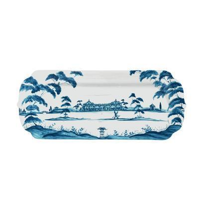 Juliska Country Estate Delft Blue Hostess Tray Garden Party $78.00