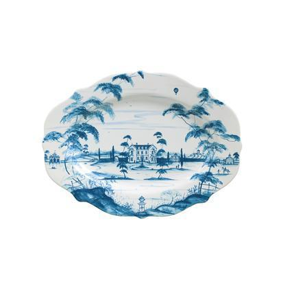 "Juliska Country Estate Delft Blue 18.5"" Serving Platter Main House $195.00"