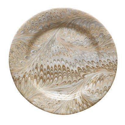 Juliska Firenze Cappuccino Marbleized Charger/Server Plate $75.00