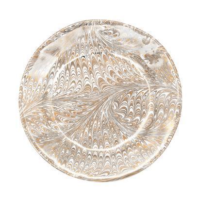 Juliska Firenze Medici Gold/Platinum Dessert/Salad Plate $55.00