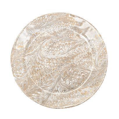 Juliska Firenze Medici Gold/Platinum Charger Plate $115.00