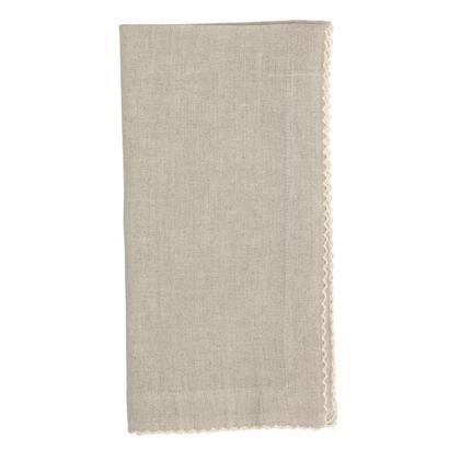 Juliska  Napkins Josephine Linen Cotton Crossweave Napkin Flax $20.00