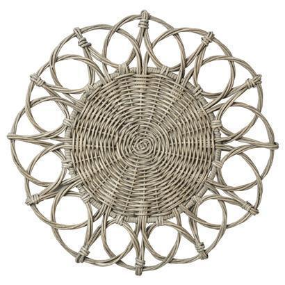 Juliska  Placemats Waveney Wicker Charger Grey Wash Placemat $39.00