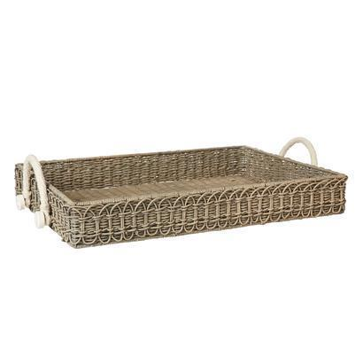Juliska  Waveney Wicker Rectangular Tray Grey Wash $158.00