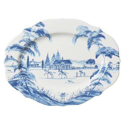 "Juliska Country Estate Delft Blue 15"" Serving Platter Stable $150.00"