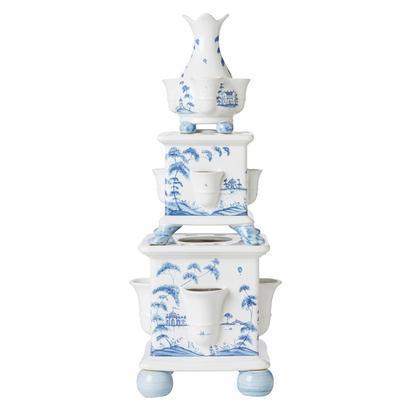 Juliska Country Estate Delft Blue Tulipiere Tower Set/3 Garden Follies $695.00