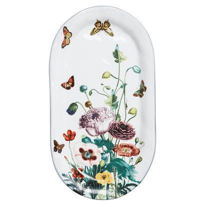 Juliska  Field of Flowers Hostess Tray Poppies White Truffle $78.00
