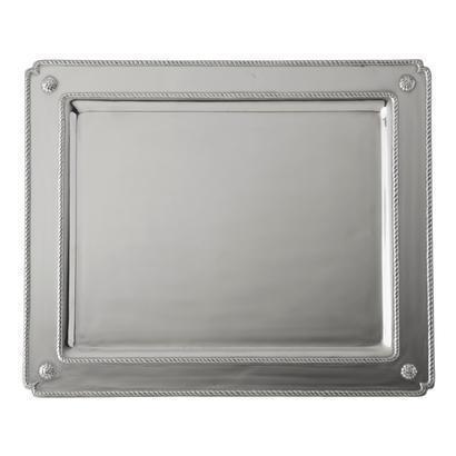 Juliska  Metal Small Rectangular Tray Bright Satin $168.00