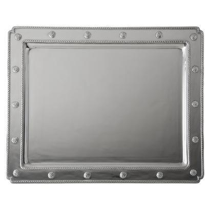Juliska  Metal Medium Rectangular Tray Bright Satin $225.00