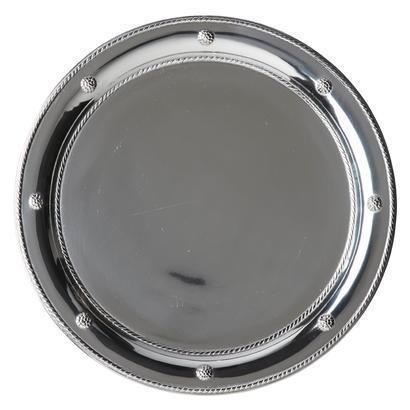 Juliska  Metal Round Tray Bright Satin $140.00