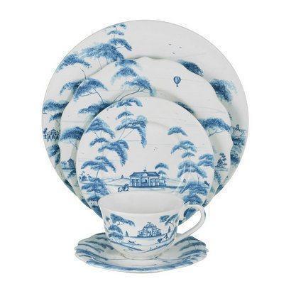 Juliska Country Estate Delft Blue 5pc Setting (CE01/44, CE02/44, CE03/44, CE04/44, CE05/44) $200.00