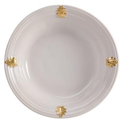 Juliska  Acanthus Whitewash/Gold Md Serving Bowl $125.00