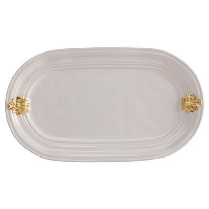 Juliska  Acanthus Whitewash/Gold Hostess Tray $88.00