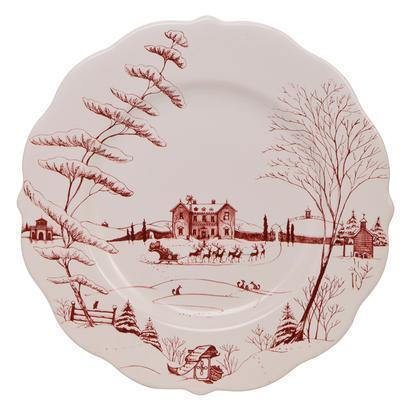 Juliska Country Estate Ruby Dinner Plate Christmas Eve $55.00