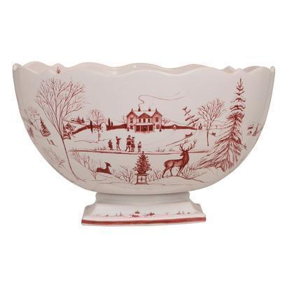 Juliska Country Estate Ruby Centerpiece Bowl Christmas Celebration $498.00
