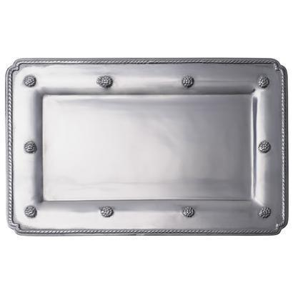 Juliska  Metal Hand Cast Aluminium Md Rectangular Gift Tray Bright Satin $95.00