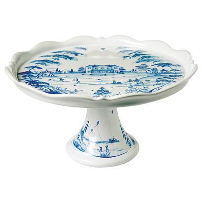 Juliska Country Estate Delft Blue Cake Stand Fete $175.00