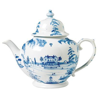 Juliska Country Estate Delft Blue Teapot Main House $175.00