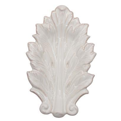 "$24.00 Whitewash 7"" Leaf Tray"