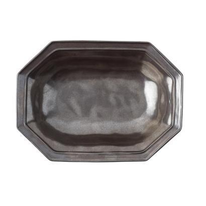 "Juliska  Pewter Stoneware Serving Bowl (12"") ~ Octagonal  $78.00"