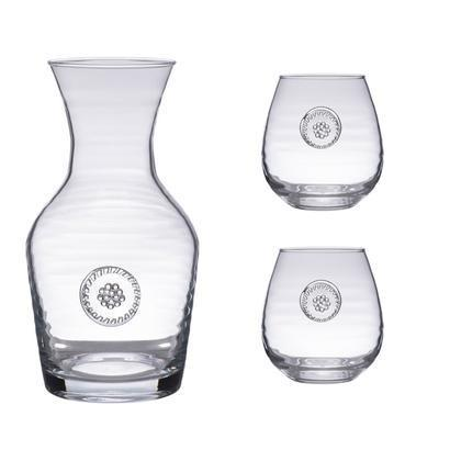 $98.00 Carafe+2 Stemless Red Wine Gift Set
