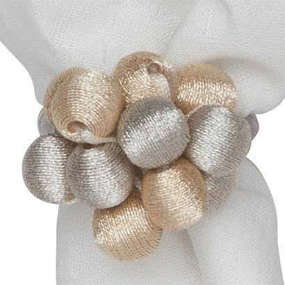 $25.00 Metallic Bead Bouquet Napkin Ring