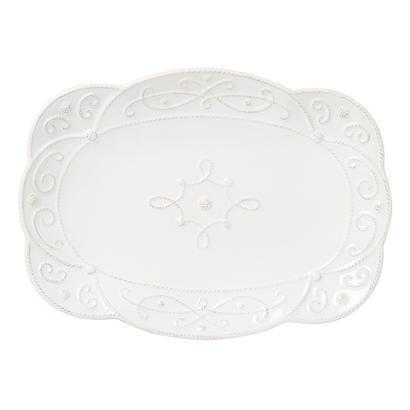 "Juliska Jardins du Monde Whitewash 15"" Platter $125.00"