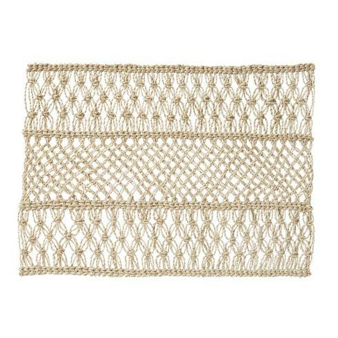 $25.00 Macrame Natural Placemat