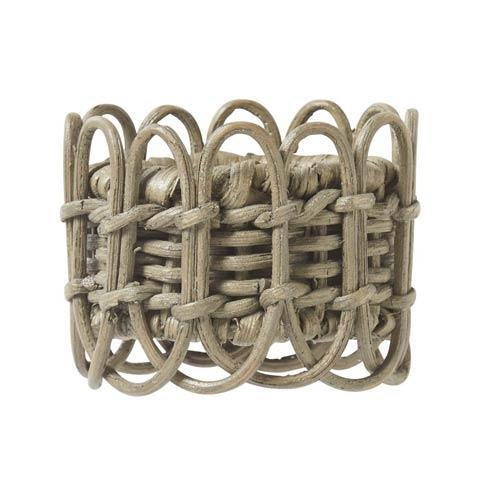 Juliska  Napkin Rings Waveney Wicker Greywash Napkin Ring $20.00