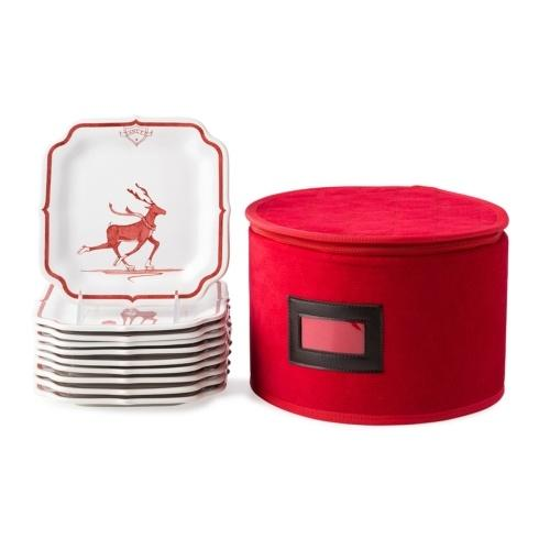 Juliska  Country Estate Reindeer Games Ruby Party Plate Set/10 $295.00
