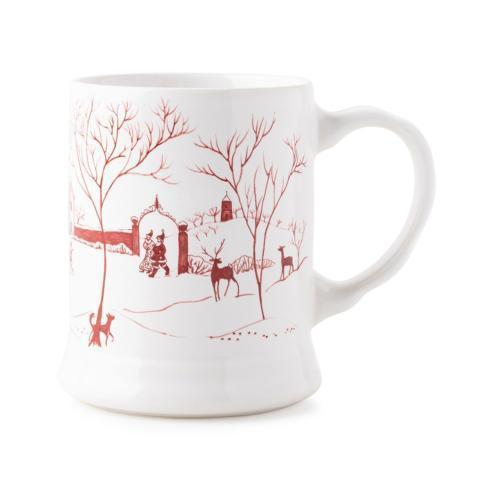 "Juliska  Country Estate Winter Frolic Winter Frolic ""Mr. & Mrs. Claus"" Ruby Mug $46.00"