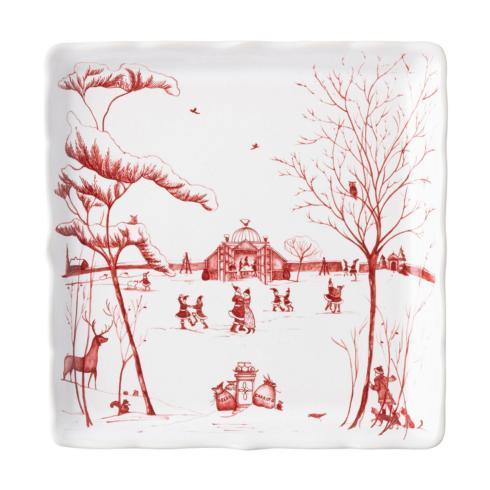 "Juliska  Country Estate Winter Frolic Winter Frolic ""Mr. & Mrs. Claus"" Ruby Sweets Tray $68.00"