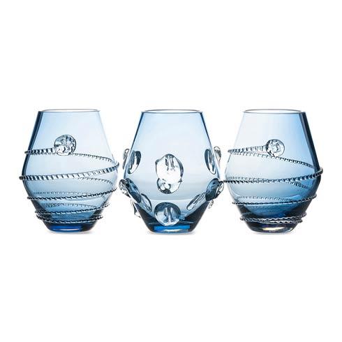$198.00 Assorted Mini Blue Vases Set/3
