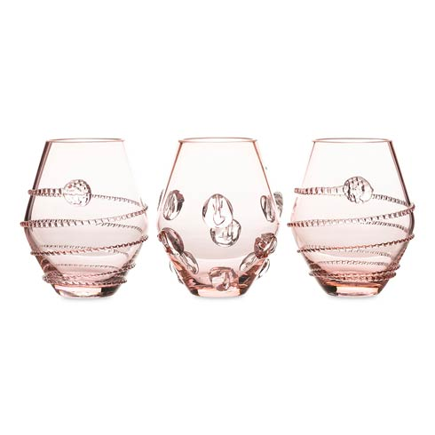 Juliska  Amalia Assorted Mini Pink Vases Set/3 $198.00