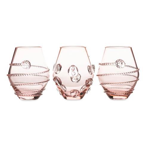 $198.00 Assorted Mini Pink Vases Set/3
