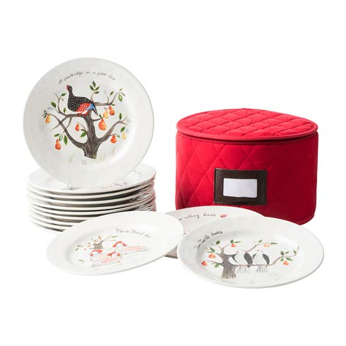 Juliska  Twelve Days of Christmas Dessert/Salad Plate Set/12 $350.00