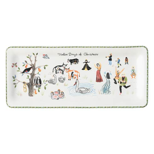 Juliska  Twelve Days of Christmas Rectangular Hostess Tray $65.00