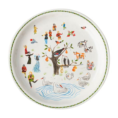 "Juliska  Twelve Days of Christmas 15"" Round Platter $125.00"
